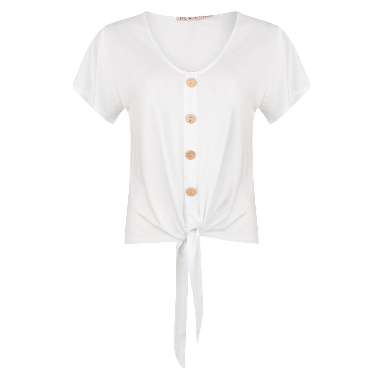 Esqualo lichte T-shirt: Off white