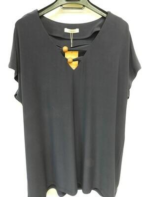 Arona Blauw T-shirt: Korte mouw ( tot maat 50 )