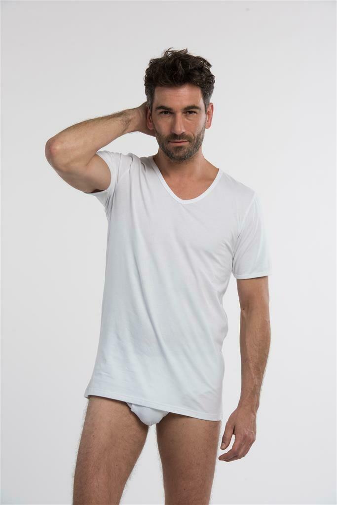 Eskimo Heren Onderhemd: Elements Korte mouw / V neck, Wit