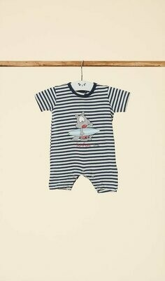 Happy People Baby Pyjama / kruippak: Jongens ( korte mouw )