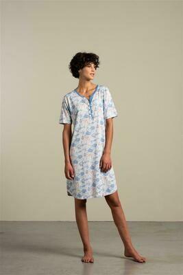 Eskimo dames nachthemd: ISA, korte mouw ( katoen / modal )