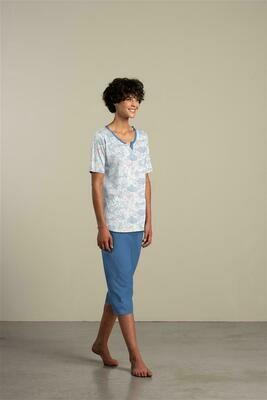 Eskimo Dames Pyjama: Isa, korte mouw - 3/4 broek