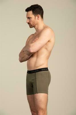 Eskimo Heren boxershort: Duncan, triopack zwart / kaki