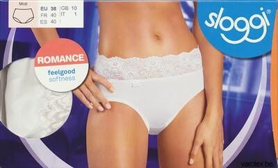 Sloggi Dames Romance Midi: Wit / Zwart