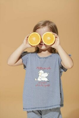 Happy People Meisjes pyjama blauw gestreept