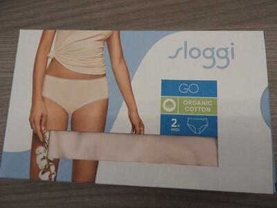 Sloggi Dames Go Midi C2P: organic cotton ( duopack )
