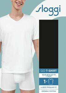 Sloggi Men Go Shirt V neck: Wit ( slim fit )
