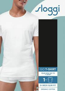 Sloggi Men Go Shirt O neck: Wit ( slim fit )