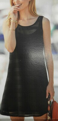 Janira kleed met korte mouw: CTA Dress Bandes Modal