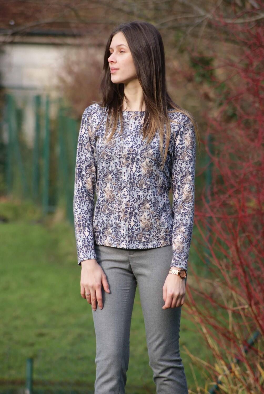 Diversa gebreide shirt: Liz, lange mouw