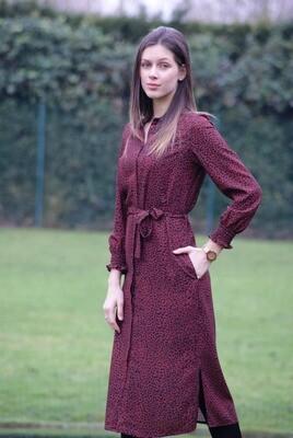 Diversa Lang kleed: Tina, roest - zwart