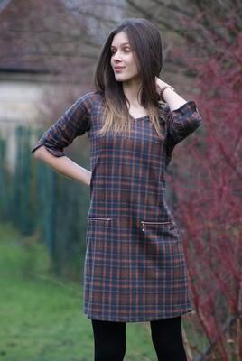 Diversa kleed: Karen, V hals ( warm kleed )