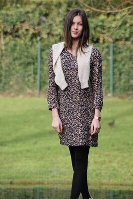 Diversa kleed: Loeka Donkerblauw geprint
