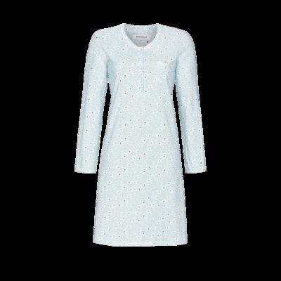 Ringella Dames nachthemd: Lange Mouw, 100% Katoen, 100cm