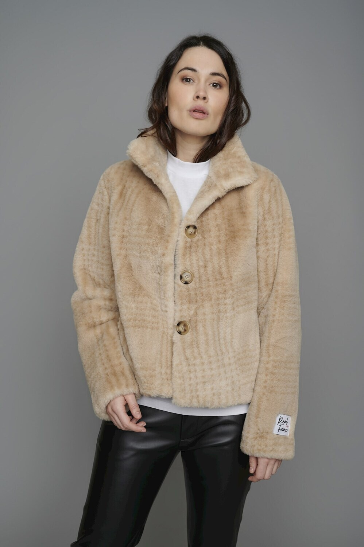 Rino & Pelle Dames bonten jas: Ecru kleur