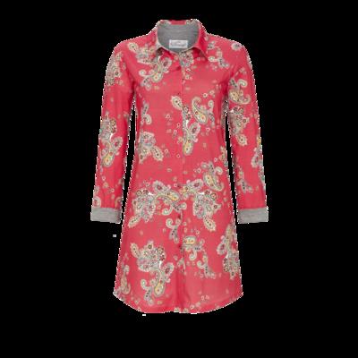 Ringella Bloomy Dames Nachthemd: Rood, Tencel, Doorknoop