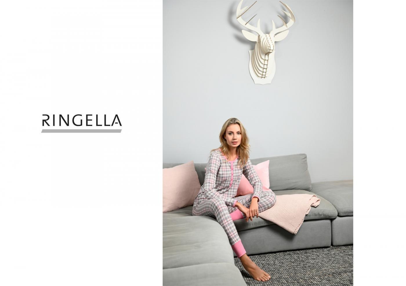Ringella Dames Pyjama: Carré motief