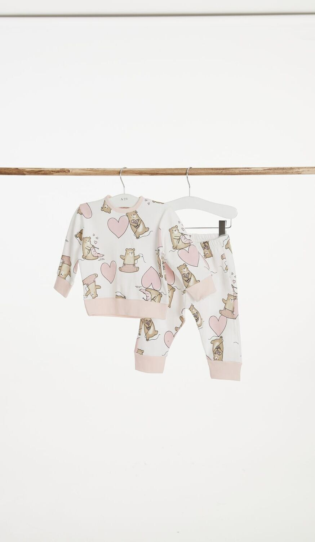 Happy People Baby Meisjes pyjama: beertjes