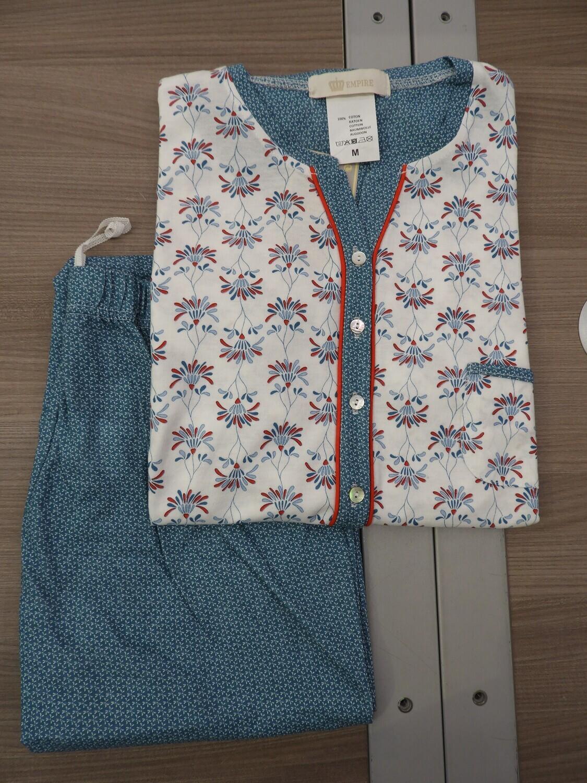 Eskimo Empire Dames pyjama: Tiphaine, lange mouwen / broek, tot maat 4XL ( 100% Katoen )