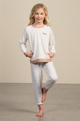 Eskimo Meisjes Pyjama: Sara, gemoltoneerd ( 2 - 8jaar )