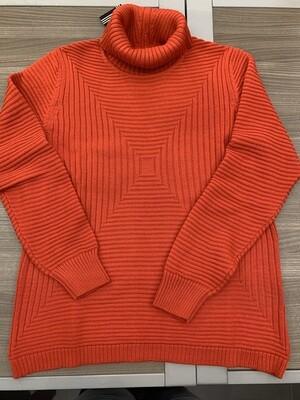 Kris Fashion Pull met rolkraag ( warm oranje )