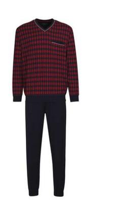 Götzburg Heren pyjama: Rood / blauw