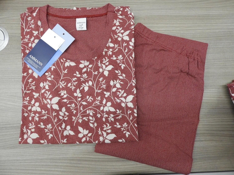 Ammann Dames pyjama: Bordeau, Fine cotton