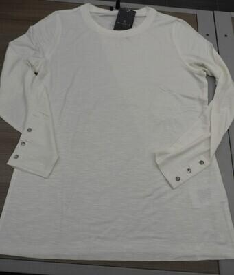 Marble Shirt: Lange mouw, Ecru