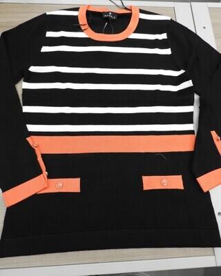 Marble Pull: Zwart / Oranje