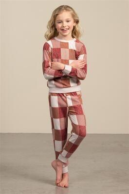 Eskimo Meisjes Pyjama: Phebe ( Fleece ) 2 - 8 jaar