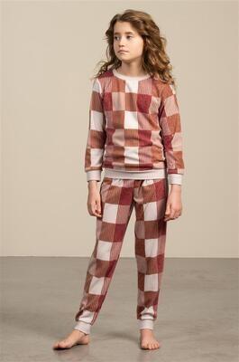 Eskimo Meisjes Pyjama: Phebe ( Fleece ) 10 - 16 jaar