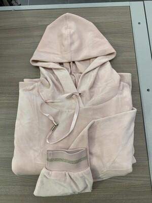LinClalor Nachthemd: Velours, roze, met kap