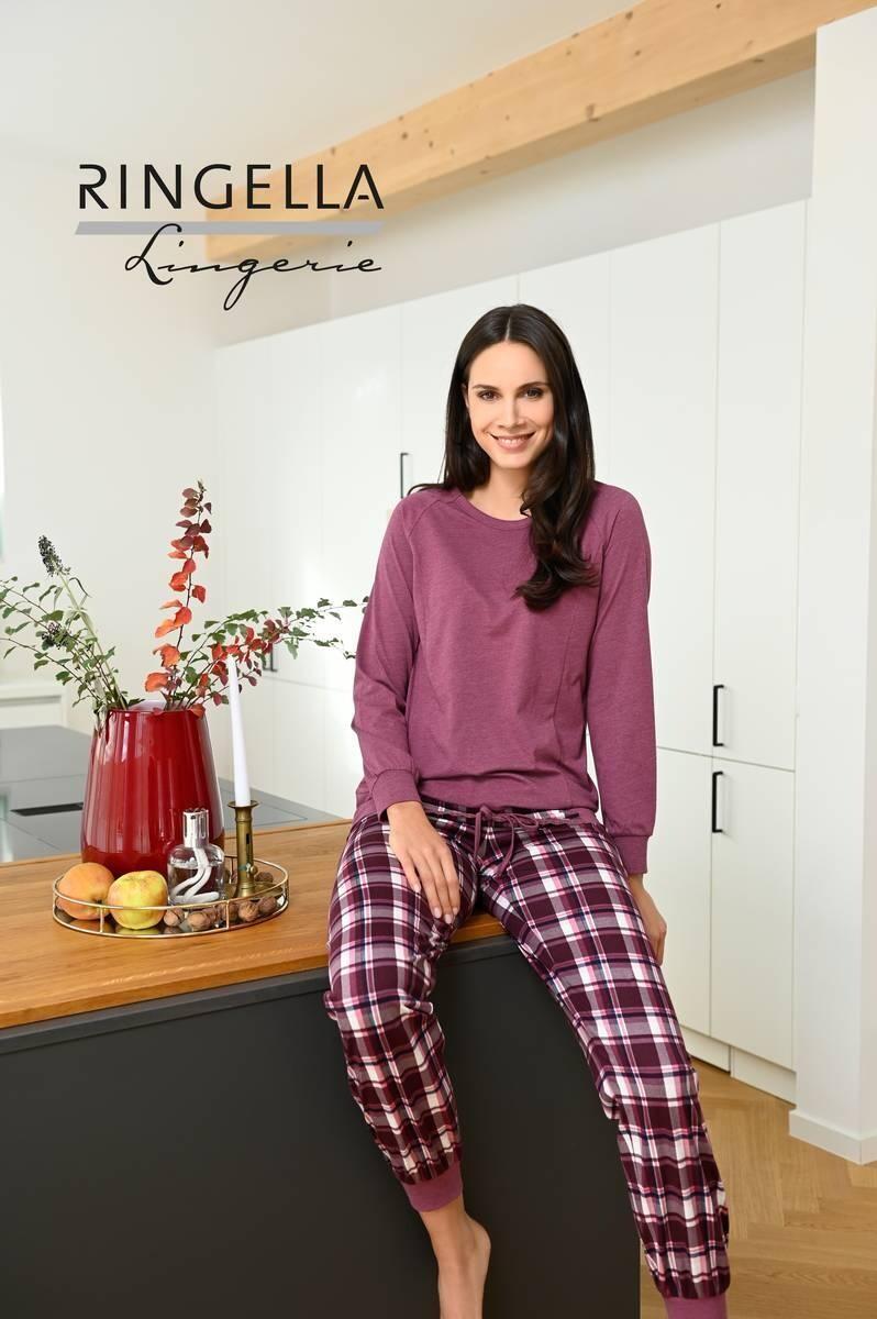 Ringella Dames pyjama: Bordeau