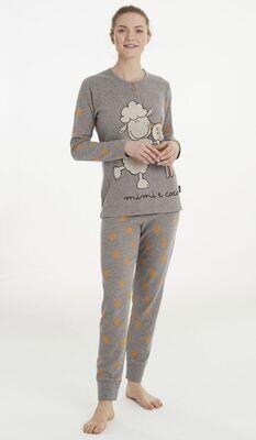 Happy People Dames Pyjama: Gemoltoneerd