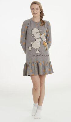 Happy People Dames nachthemd: Gemoltoneerd