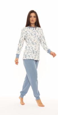 Gary Dames pyjama: Interlock, warme katoen