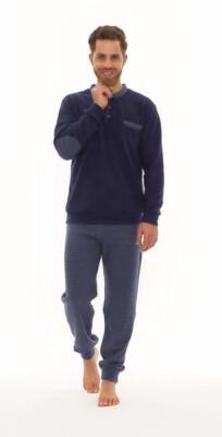 Gary Herenpyjama / Homewear: Blauw,
