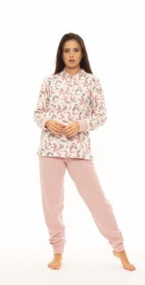 Gary Dames Pyjama: Roze, Punto Milano ( WARM )