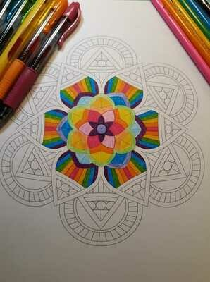 FREE Download & Print Mandala Coloring Page