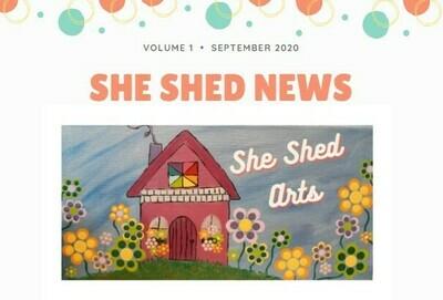 She Shed News Volume 1 September 2020 FREE Download