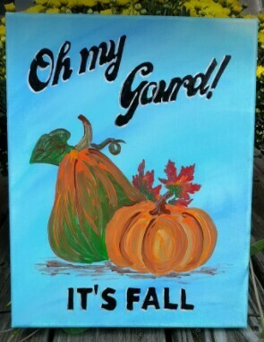OH MY GOURD It's FALL! Virtual Paint Party Sept 22, 23, 24th