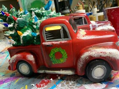 Ceramic Truck & Tree Paint Party at She Shed Arts Dec. 1st at 6:30 PM
