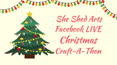 FB LIVE Christmas Craft-A-Thon Supply List Download