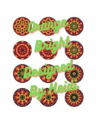 Orange Bright Multi Mandala Designs for Ornaments (Download)