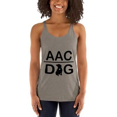 #AACdog Black Logo Women's Racerback Tank