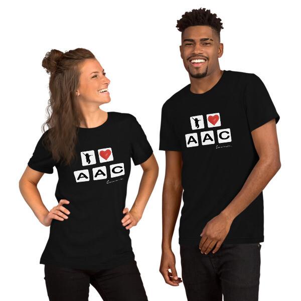 I <3 AAC: Tiles Black Short-Sleeve Unisex T-Shirt