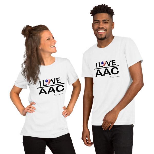 I <3 AAC: U.S. Flag (Multiple Colors) Short-Sleeve Unisex T-Shirt