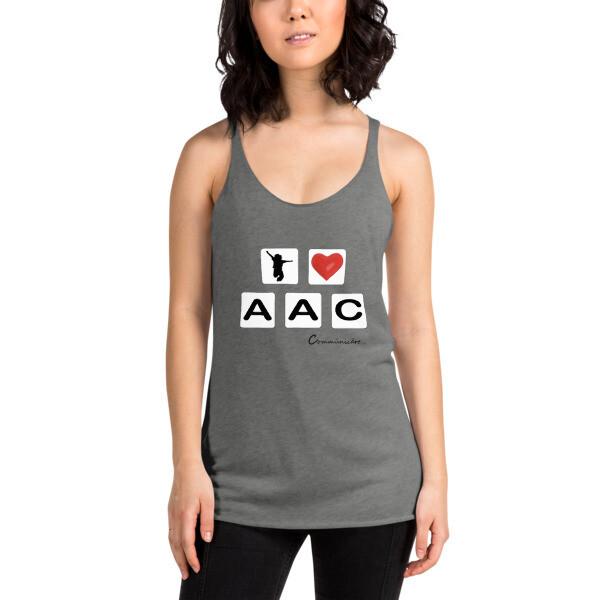 I <3 AAC: Device Tile Women's Racerback Tank