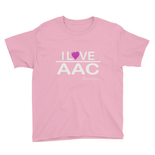 I <3 AAC: Youth Short Sleeve T-Shirt (Multiple Colors)