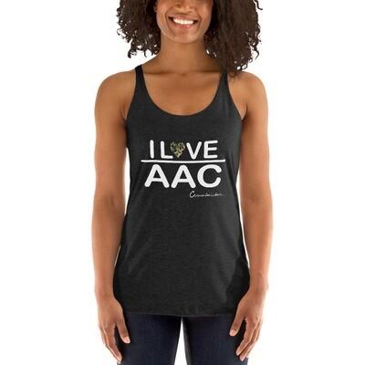 I<3 AAC: Camo Heart Women's Racerback Tank